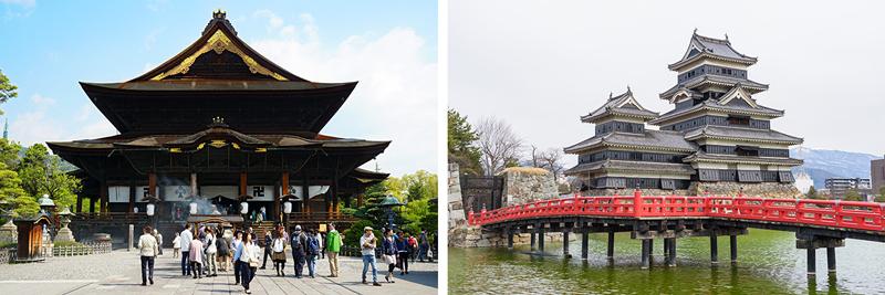 Zenkoji Temple in Nagano - Matsumoto Castle